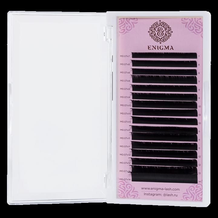 Черные ресницы Enigma 0.07/D/12 mm (16 линий)
