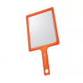 DEWAL Зеркало заднего вида 21.5*23.5см. оранжевое, пластик с ручкой //MR-051