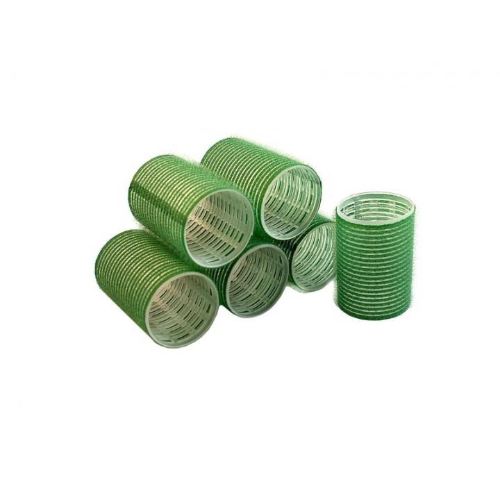 DEWAL Бигуди-липучки 61мм зелёные 6шт//R-VTR16