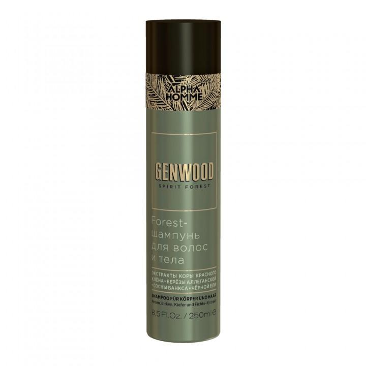 Forest-шампунь для волос и тела ALPHA HOMME GENWOOD , 250 мл