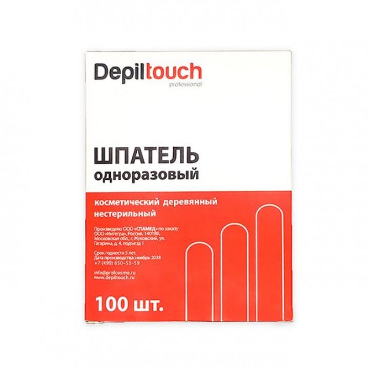 Depiltouch Шпатель деревянный нестерильный 114*10 мм (100 шт в кор.)