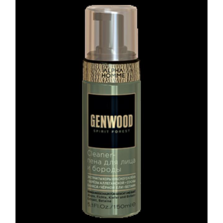 Cleaner-пена для лица и бороды ALPHA HOMME GENWOOD , 150 мл