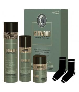 Набор FRESH & GO ALPHA НOMME GENWOOD (шампунь 250 мл, дезодорант 50 мл, спрей для ног 100 мл, носки)
