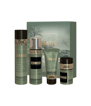 Набор care (шампунь, пена для лица и бороды, гель-крем для лица, крем для рук) ALPHA HOMME GENWOOD