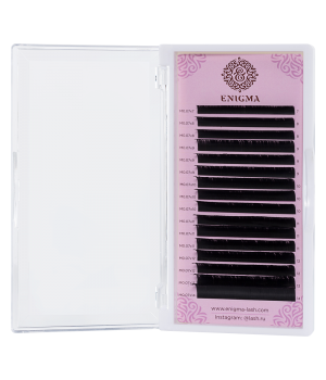 Черные ресницы Enigma 0.07/M/13 mm (16 линий)