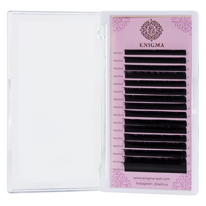 Черные ресницы Enigma 0.10/M/10 mm (16 линий)