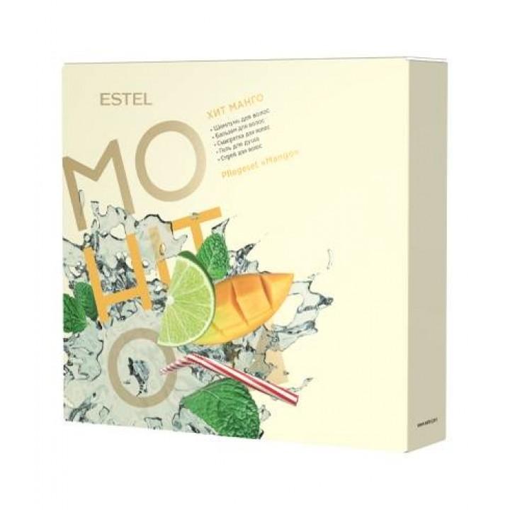 ESTEL MOHITO Набор HIT #5 Манго (шампунь 250, бальзам 200, спрей 100, сыворотка 60, гел