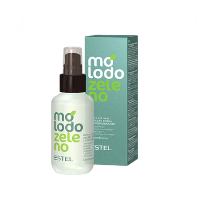 Мист для лица Живая вода с хлорофиллом ESTEL Molodo Zeleno, 100 мл