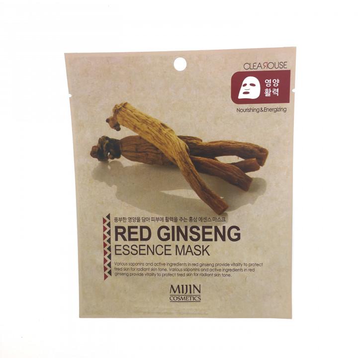 МЖ Cosmetics Маска для лица тканевая красный женьшень RED GINSENG ESSENCE mask, 25 гр