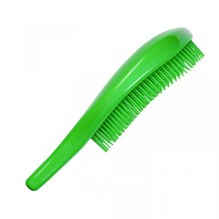 MELON Щетка для волос и массажа кожи головы МР с многоуров.щетинками, зелен. 186*80мм//70026