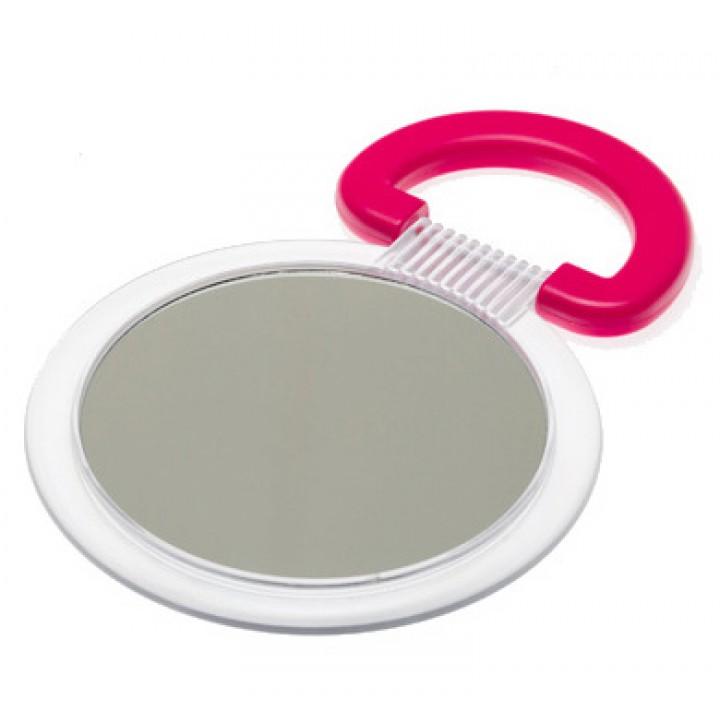 DEWAL Beauty Зеркало настольное, в матовой оправе, на пл.подставке красного цвета 230*154*10 мм