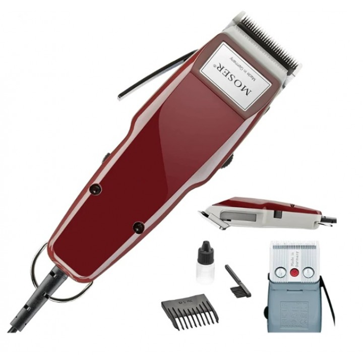 MOSER Машинка Hair Clipper 1400 220-240V 50 Hz red/насадки 4,5 мм, 4-18 мм