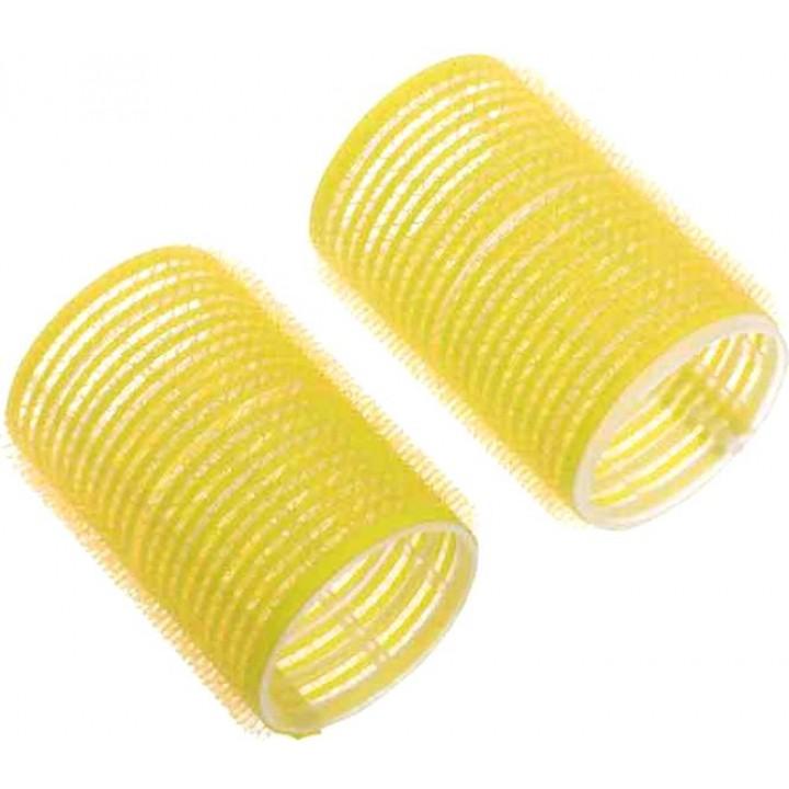 DEWAL Бигуди-липучки 65мм желтые 6шт//R-VTR17