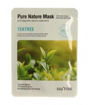 Маска для лица тканевая Secriss Pure Nature Mask Pack-TEATREE, 25ml
