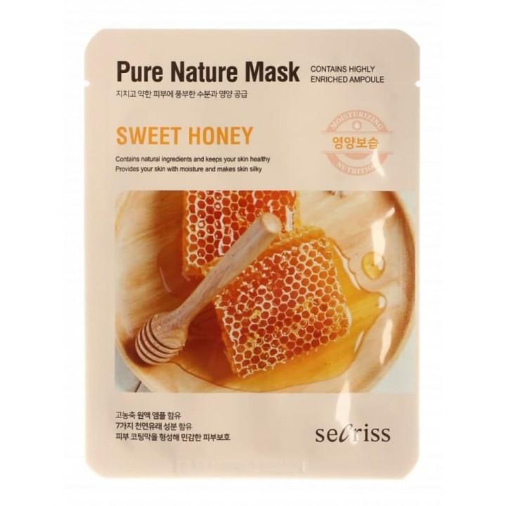 Маска для лица тканевая Secriss Pure Nature Mask Pack-SWEET HONEY, 25ml