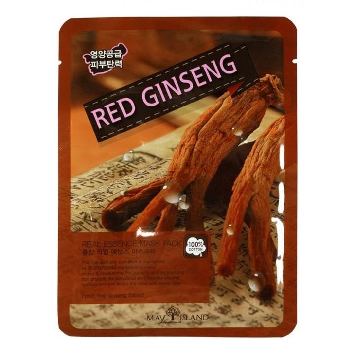 МСЛ REAL Маска для лица тканевая Real Essense RED GINSENG MASK, 25 мл