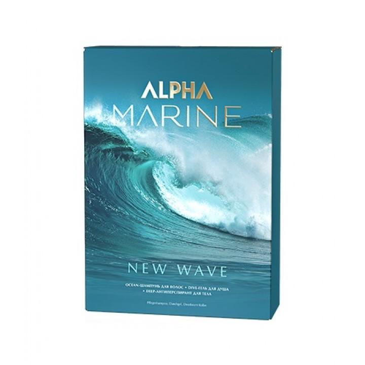 ALPHA MARINE Набор New Wave (шампунь 250 + гель для душа + антиперспирант дез-т)