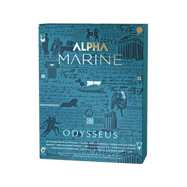 ALPHA MARINE Набор Odysseus (косметичка: шампунь 60 мл + антиперспирант для тела + сыво