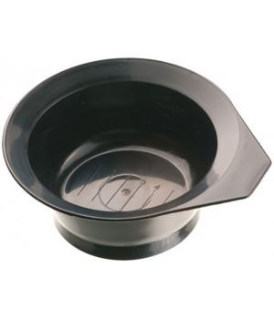 DEWAL Чаша д/окраски чёрная с ручкой, с резинкой на дне 260 мл//T-1201Ч
