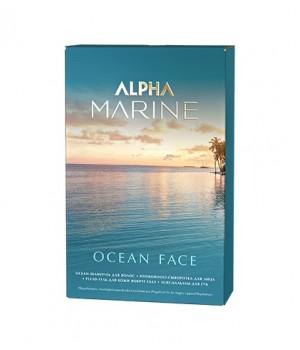 ALPHA MARINE Набор Ocean Face (шампунь 250 + сыворотка для лица + флюид для кожи вокруг