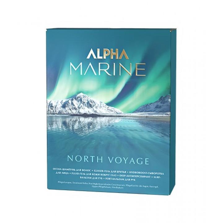ALPHA MARINE Набор North Voyage (косметичка: шампунь 60 мл + антиперспирант для тела + сывор