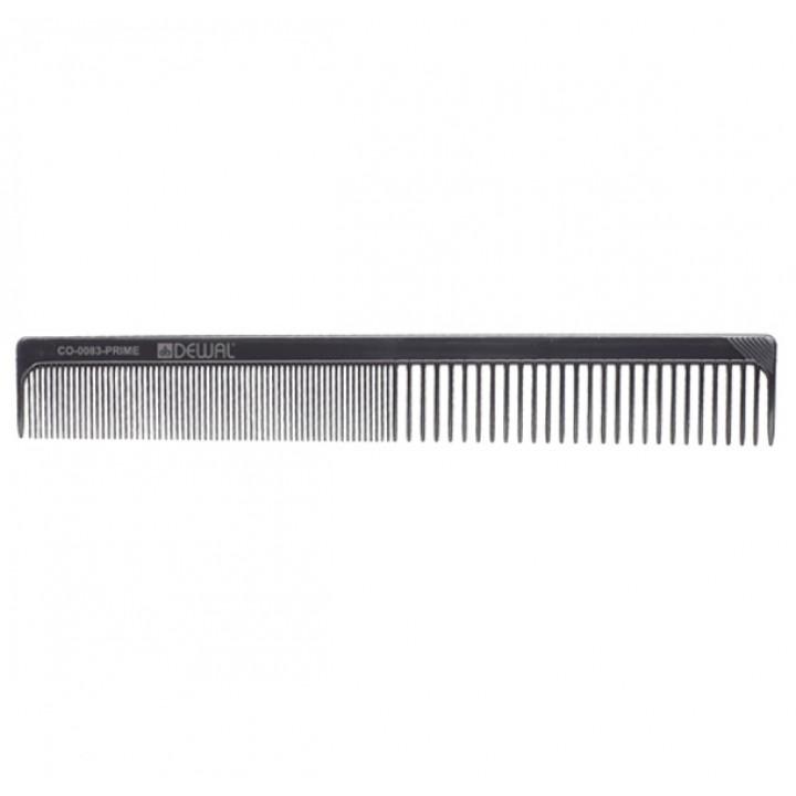 DEWAL Расчёска рабочая PRIME комбинированная, черная 20 см//CO-0083-PRIME