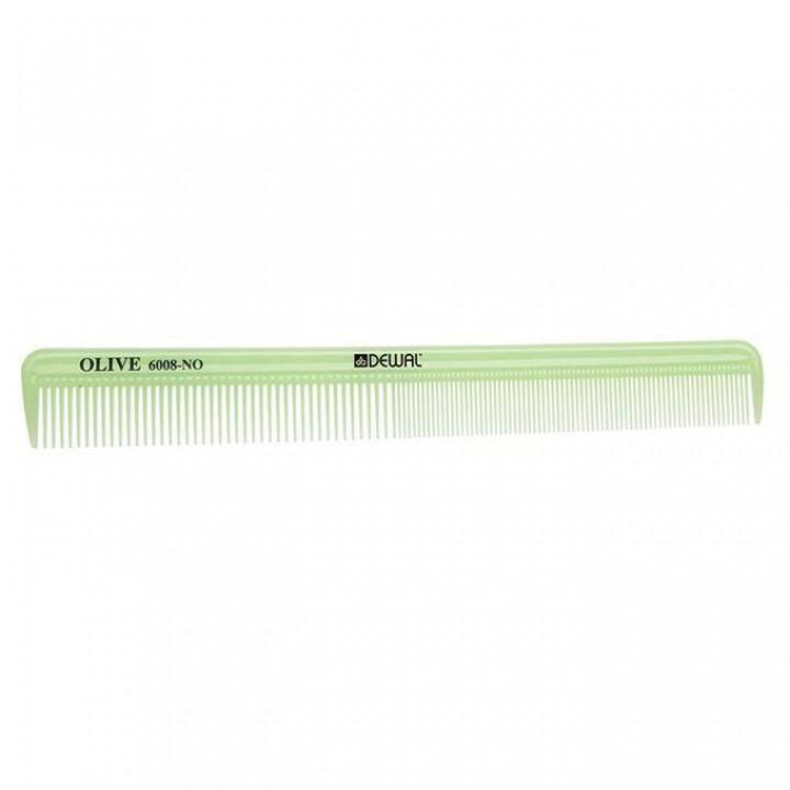 DEWAL Расчёска рабочая OLIVE комбинированная, узкая, зеленая 21,5 см//CO-6008-OLIVE