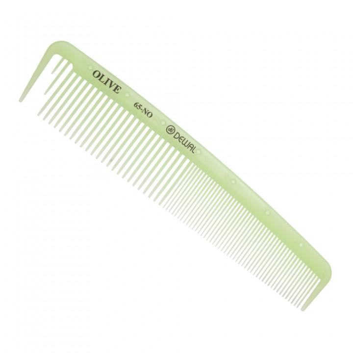 DEWAL Расчёска рабочая OLIVE комбинированная, широкая,с разделит.зубцом, зеленая 19.5см//CO-65-OLIVE