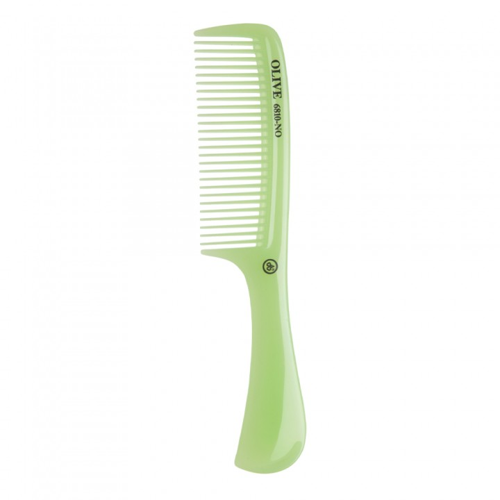 DEWAL Расчёска рабочая OLIVE с ручкой, зеленая 20,5 см//CO-6810-OLIVE