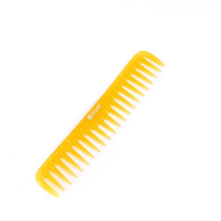 DEWAL Расчёска PROSUN редкозубая, антистатик, желтая 19 см//CO-6024-SO