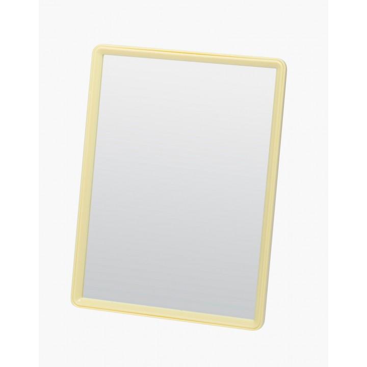 DEWAL Зеркало настольное в желтой оправе, на пластик.подставке 15*20см //MR28