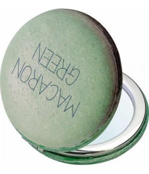 "DEWAL Зеркало серия ""Макарони"" карманное круглое, зеленое 6*6*1,5 см//PMP-2620"