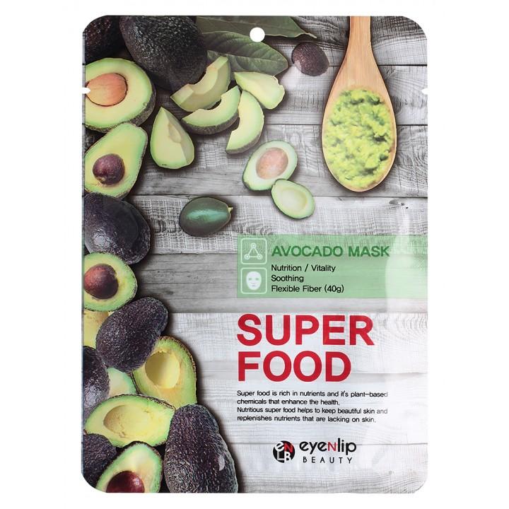 ENL SUPER FOOD Маска для лица тканевая EYENLIP SUPER FOOD AVOCADO MASK, 23 мл