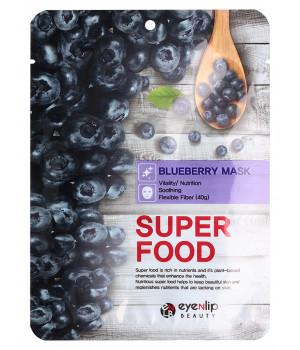 ENL SUPER FOOD Маска для лица тканевая EYENLIP SUPER FOOD BLUEBERRY MASK, 23 мл