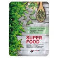 ENL SUPER FOOD Маска для лица тканевая EYENLIP SUPER FOOD GREEN TEA  MASK, 23 мл