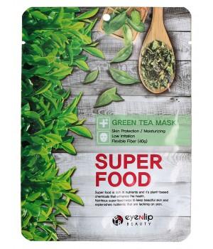 ENL SUPER FOOD Маска для лица тканевая EYENLIP SUPER FOOD GREEN TEA  MASK, 23 мл