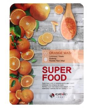 ENL SUPER FOOD Маска для лица тканевая EYENLIP SUPER FOOD ORANGE MASK, 23 мл