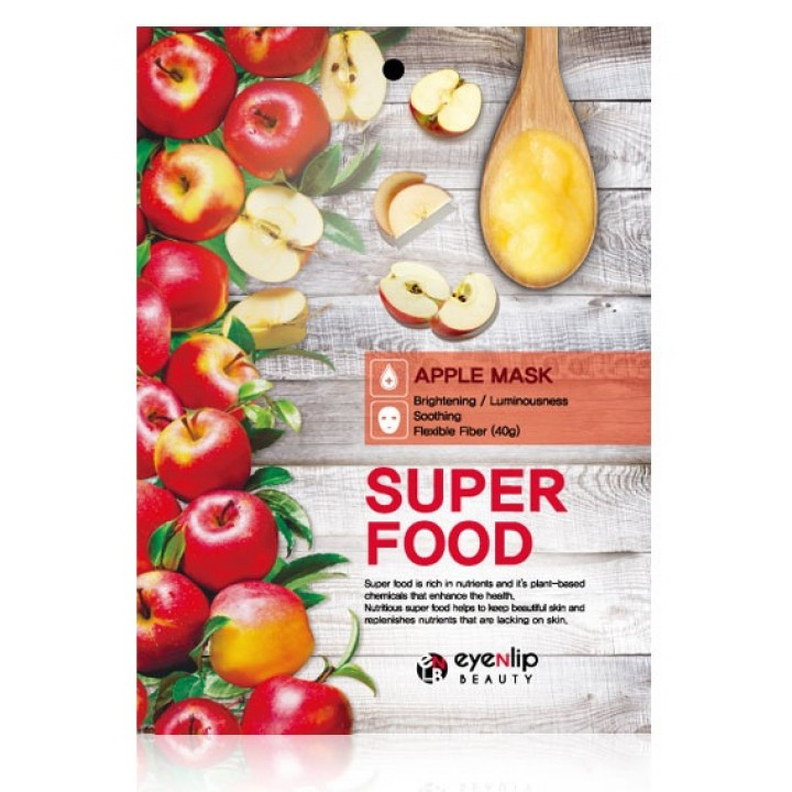 ENL SUPER FOOD Маска для лица тканевая EYENLIP SUPER FOOD APPLE MASK, 23 мл