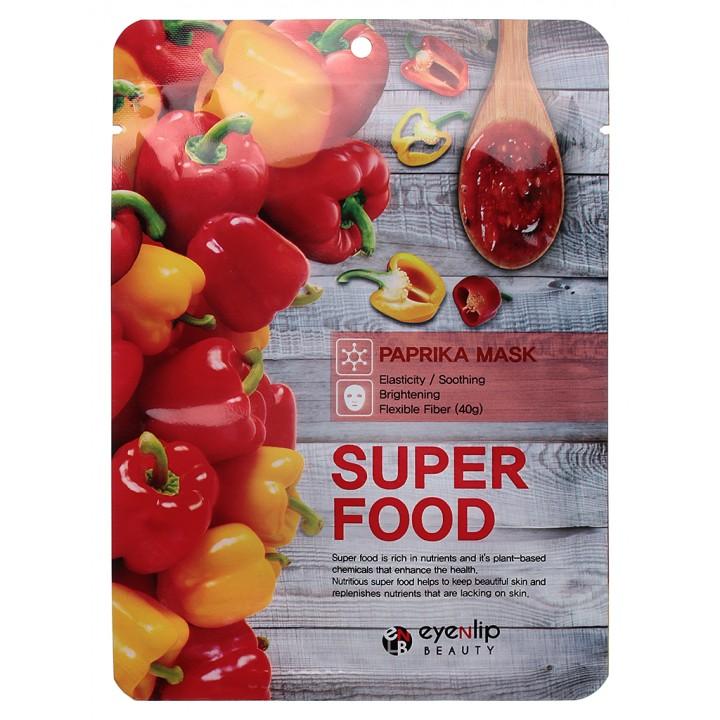 ENL SUPER FOOD Маска для лица тканевая EYENLIP SUPER FOOD PAPRIKA  MASK, 23 мл