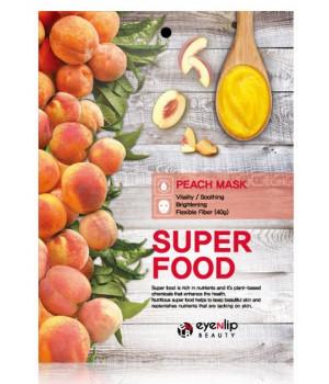 ENL SUPER FOOD Маска для лица тканевая EYENLIP SUPER FOOD PEACH MASK, 23 мл