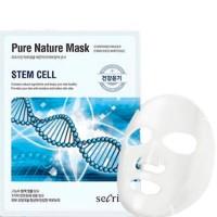Маска для лица тканевая Secriss Pure Nature Mask Pack-STEM CELL, 25ml