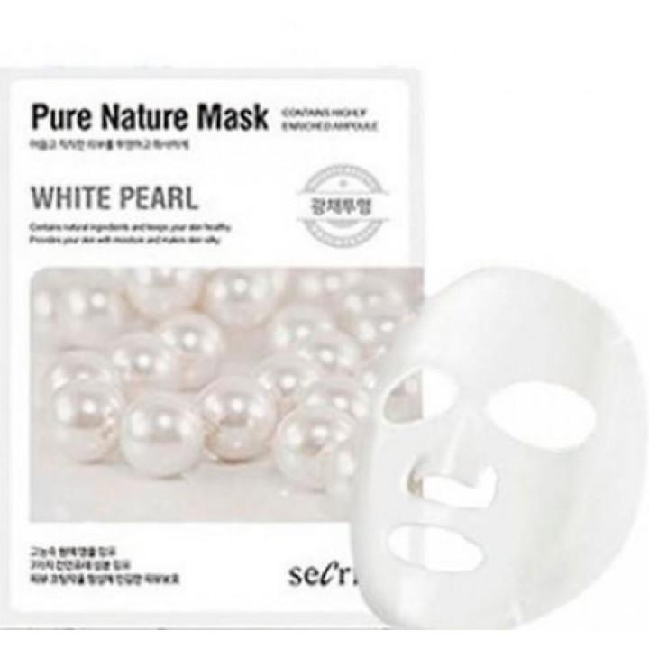 Маска для лица тканевая Secriss Pure Nature Mask Pack-White PEARL, 25ml