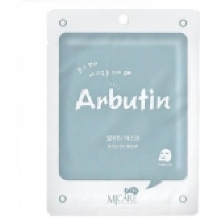 МЖ MJ CARE Маска для лица тканевая с арбутином MJ on ARBUTIN mask, 22 гр