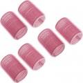 DEWAL Beauty Бигуди-липучки d 24*63мм розовые 10шт//DBL24