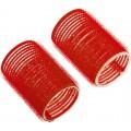 DEWAL Beauty Бигуди-липучки d 36*63мм красные 10шт//DBL36