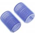DEWAL Beauty Бигуди-липучки d 40*63мм синие 10шт//DBL40