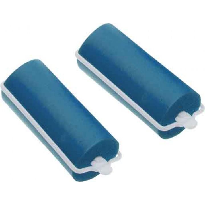 DEWAL Beauty Бигуди резиновые d 16*70мм синие 10шт//DBRZ16