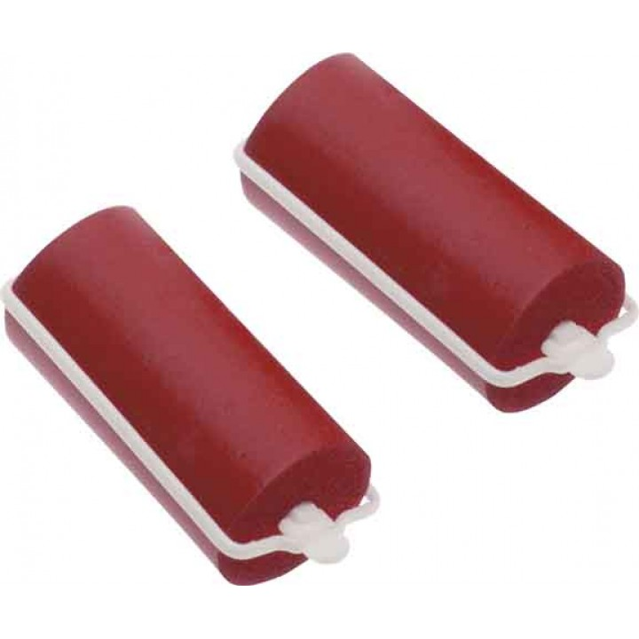 DEWAL Beauty Бигуди резиновые d 22*70мм красные 10шт//DBRZ22