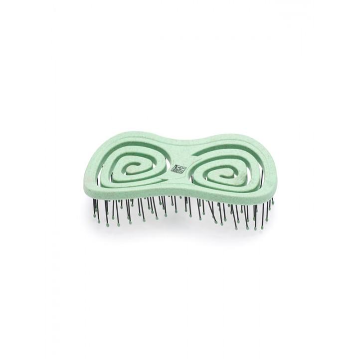 """DEWAL Beauty Щетка серия """"Eco-Friendly"""" массажная, с нейлоновым штифтом, форма бабочка, оливковый"""