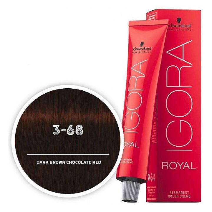 Schwarzkopf IGORA 3-68 Темный коричневый шоколадный красный